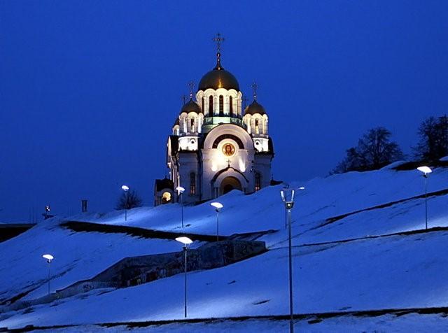 Храм святого великомученика Георгия Победоносца зимой