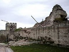 Byzantine Wall in Constantinople collapses as Turkey continues to let historical sites go into disrepair