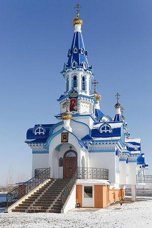 Восстановленный на месте сгоревшего храм Казанской иконы Божией Матери в Ильинке