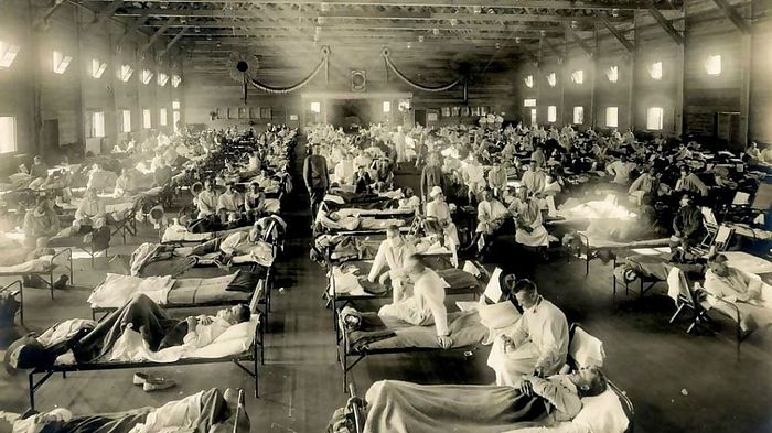 Больные испанским гриппом, США
