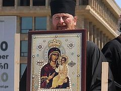 Priests process through Tbilisi on Family Purity Day