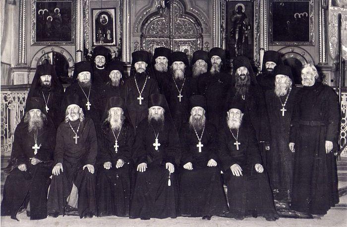 Братия Жировицкого монастыря в 1960-е годы