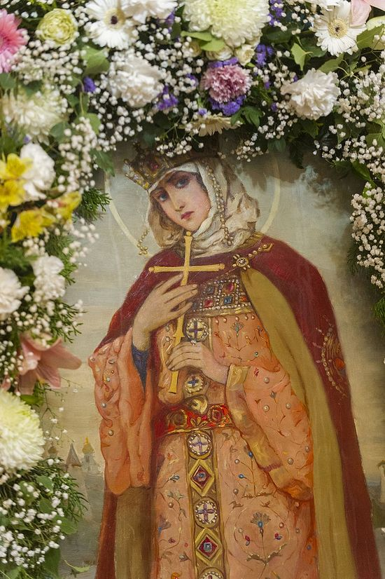 Равноапостольная княгиня Ольга. Икона из Псковского кафедрального Троицкого собора