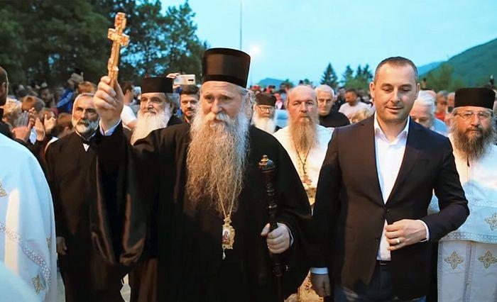 Η συνάντηση του Επισκόπου Μπουντιμλιάν και Νίκσιτς Ιωαννίκιου στο Μπεράν στις 17 Μαΐου 2020.