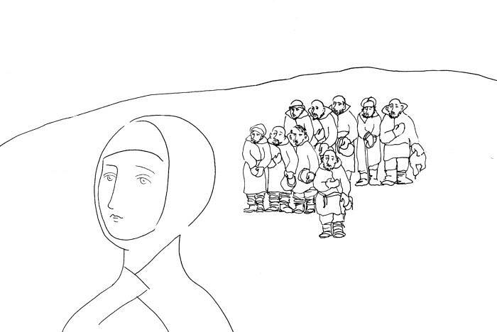 Σόνια Μαρμελάντοβα. Σχέδιο της Catherine Vatel