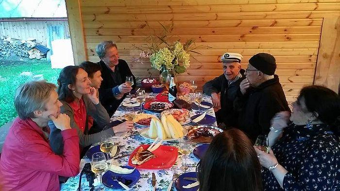 В гостях у народных художников СССР С. П. и А. П. Ткачевых. 2017 год