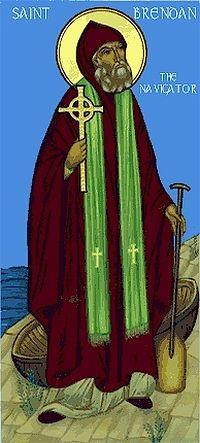 An Orthodox icon of St. Brendan the Navigator