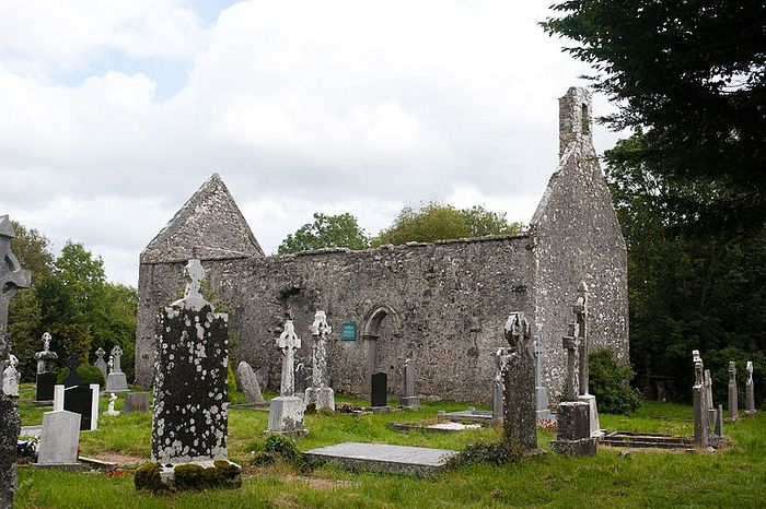 Remains of St. Brendan's Cathedral in Annaghdown, Galway