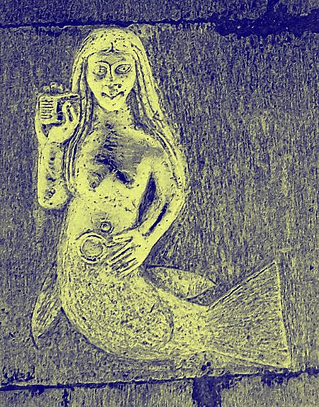 The carving of a mermaid at Clonfert Cathedral, Galway (photo from Wikipedia)
