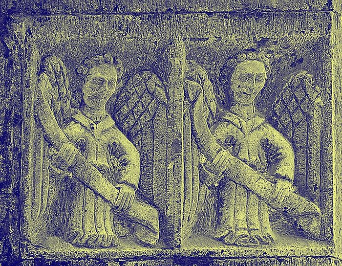 The carvings of angels at Clonfert Cathedral, Galway (photo from Wikipedia)