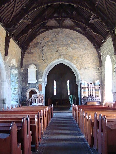 The nave of Clonfert Cathedral, Galway