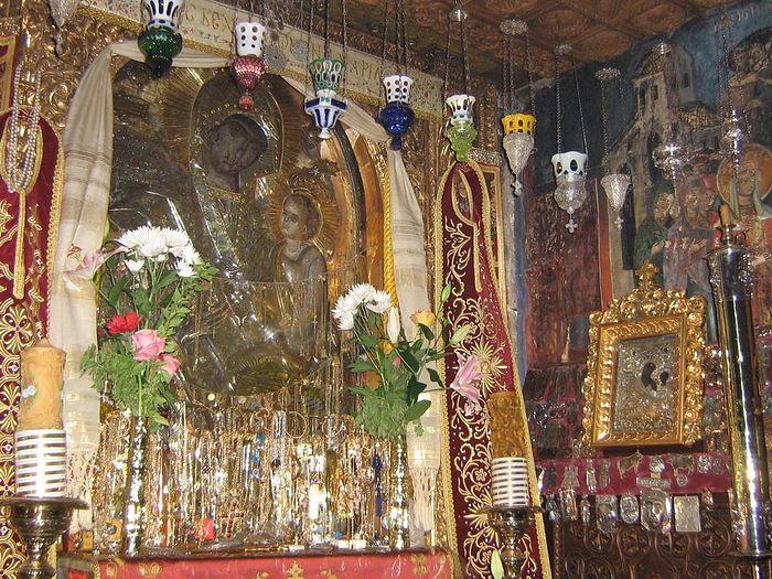 Εικόνα της Παναγίας της Γοργουπηκόου στη Μονή Δοχειαρίου
