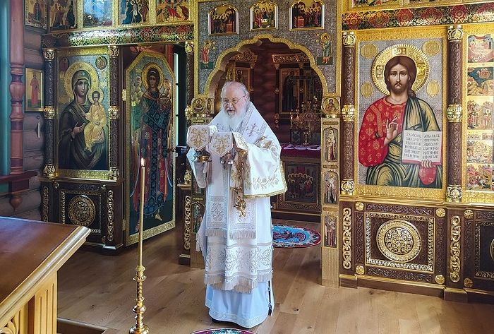 Святейший Патриарх Кирилл совершил Божественную литургию в праздник Вознесения Господня