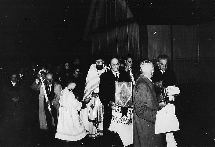 Отец Владыки Владимир Яромирович. Франкфурт Пасха. (1955)