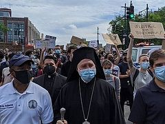 Abp. Elpidophoros on the BLM march: It was my duty as a Christian and Greek, inspired by Pat. Bartholomew