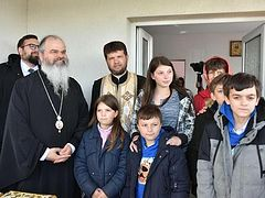 Three disadvantaged families receive new housing from Romanian Huși Diocese