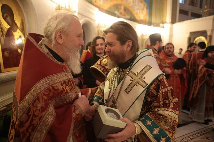 Протоиерей Георгий Бреев с владыкой Тихоном