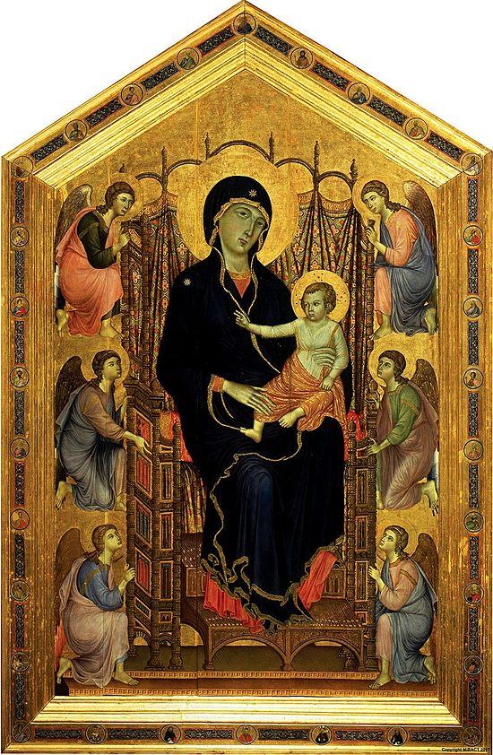 Дуччо ди Буонинсенья. «Мадонна с Младенцем и ангелами» («Мадонна Ручеллаи»). 1285. Фото: The Uffizi