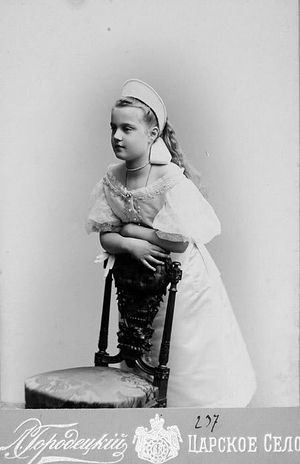 Maria Pavlovna as a child. Tsarskoe Selo.