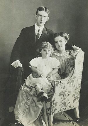 Maria Pavlovna with her husband and her son Lennart
