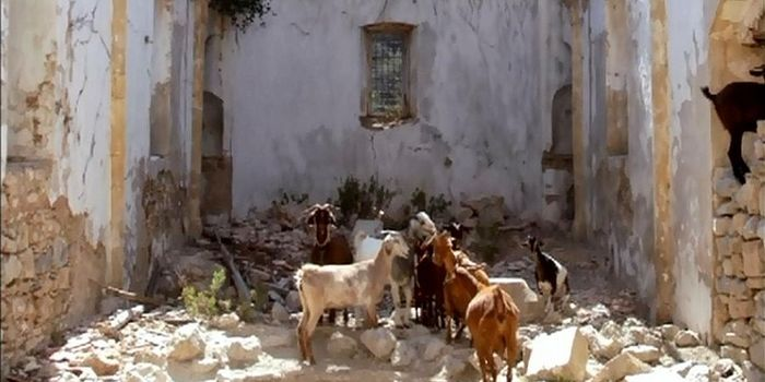 A church being used as a stable in Lapithos, Cyprus. Photo: romfea.gr