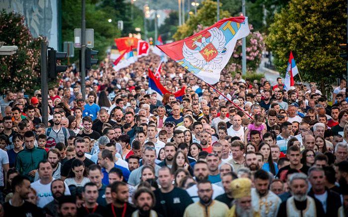 Крестный ход в Подгорице 14 июня 2020 г. Фото: Милош Вуйович