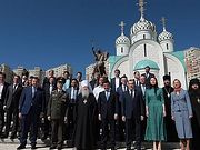 В подмосковном Красногорске освящен памятник вмч. Георгию Победоносцу
