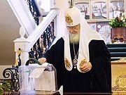 Святейший Патриарх Кирилл принял участие в голосовании по поправкам к Конституции Российской Федерации