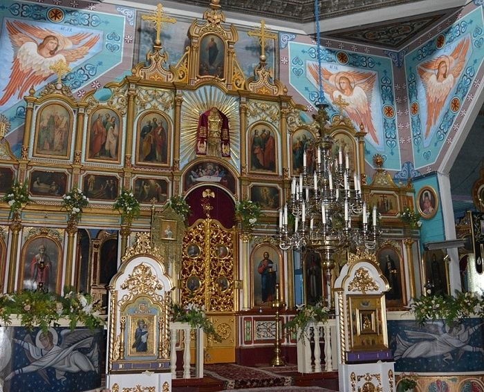 Внутреннее убранство храма св. вмч. Параскевы с. Вилия