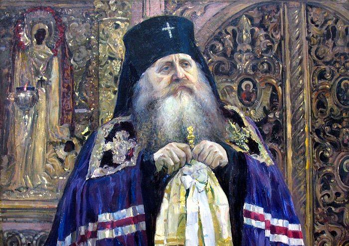 Нестеров М. Архиепископ Антоний (Храповицкий). Холст, масло. 1917