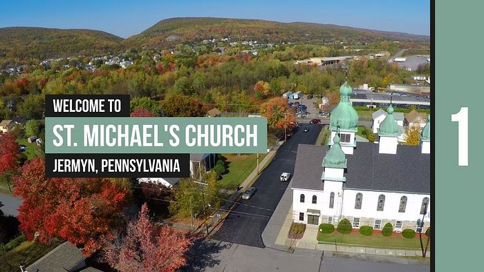 St. Michael's Church in Pennsylvania, displaying typical Rusyn-Galician style domes; the land behind the church displays features very similar to Transcarpathia, which is one of the reasons Rusyns fell in love with these regions. This is merely one example chosen from literally hundreds: http://orthodox360.com/tours/stmichael-jermyn/