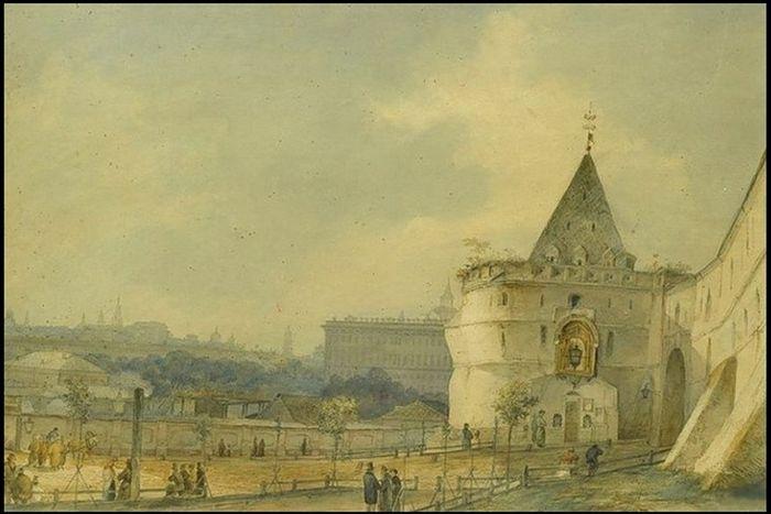 Варварские ворота Китай-города с образом Богородицы