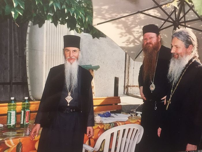 Владыка Марк, владыка Агапит и отец Николай Артемов