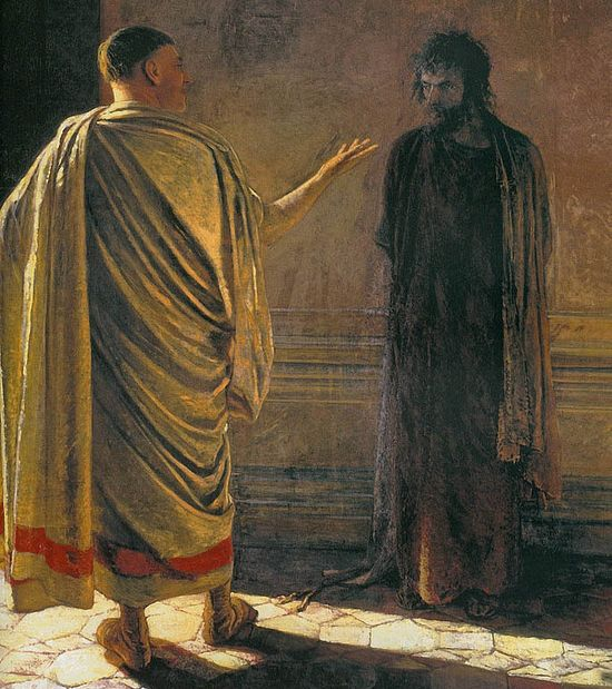 Nikolai Ge. What is truth? Christ and Pilate,1890. Photo: wikipedia