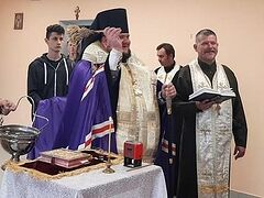 Ukrainian schismatics and Uniates jointly consecrate military base