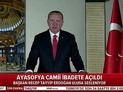 Erdoğan: first Muslim service to be held in Agia Sophia on July 24