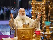 В день памяти апостолов Петра и Павла Святейший Патриарх Кирилл совершил Литургию в Храме Христа Спасителя
