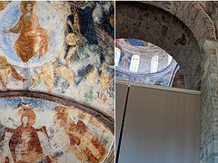 Agia Sophia mosaics will be covered with curtains and special lighting technology during Islamic prayers