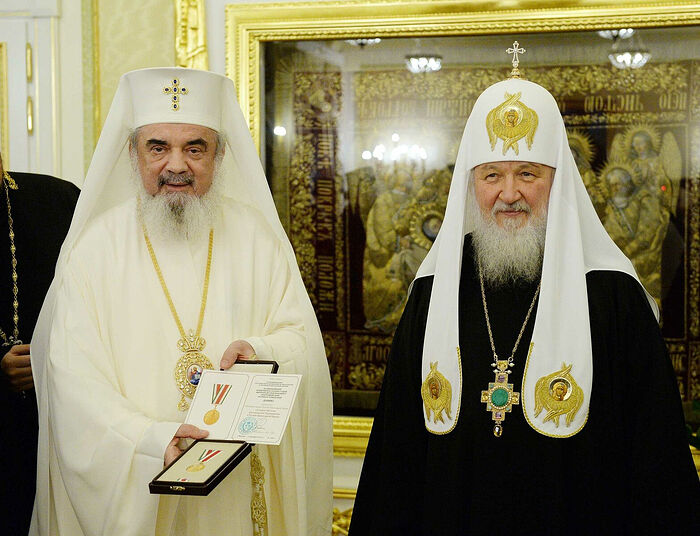 Patriarcha Daniel of Romania (left) and Patriarch Kirill of Moscow (right). Photo: rusk.ru