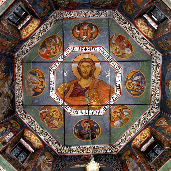 Фрески Николаевского храма (село Озерецкое, Московская область)