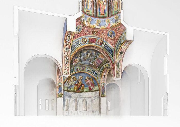 Эскиз росписи храма. Автор Александр Лавданский