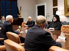 Archbishop Elpidophoros met with President Trump, VP Pence (+VIDEO)