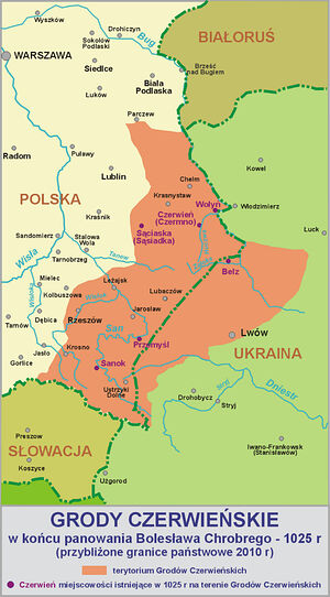 Red Ruthenia, the western extreme of Rus', now corresponds mostly to the border region between Poland and the Lviv (Lwow/Lvov) province of modern Ukraine. Red Ruthenia was centered around especially Przemyśl, Chełm, Rzeszów, and Zamość in Poland today. This map shows how close the region overlaps with Galicia and the northern tips of Transcarpathia. St. Alexis Toth as well as Metropolitan Laurus (Skurla) and a sizable amount of the early Orthodox or Uniate Slav immigrants to the U.S. were from nearby Preszow (Presov) in Slovakia (Słowacja).