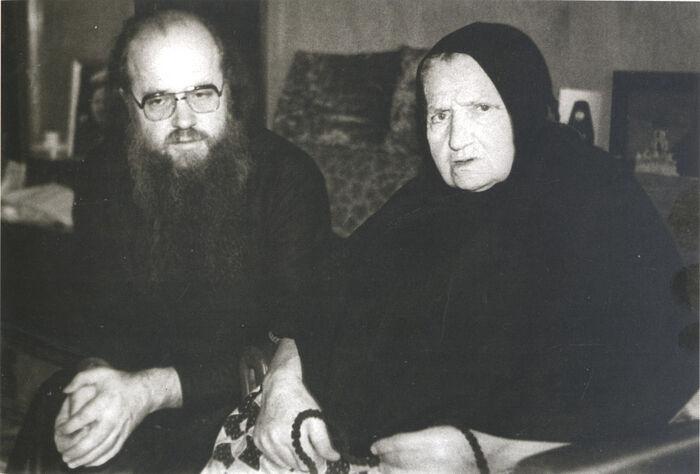 Отец Евлогий с мамой – монахиней Надеждой