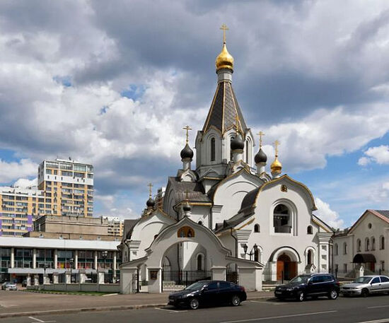 The new Church of Sts. Cyril and Methodius in northwestern Moscow. Photo: v-resin.ru