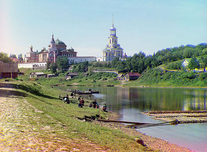 Торжок, 1910 г. Фото: Прокудин-Горский