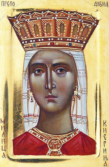 Святая княгиня Милица. Современная икона. Автор: Елена Хинич.