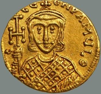 Монета с изображением императора Константина V Копронима