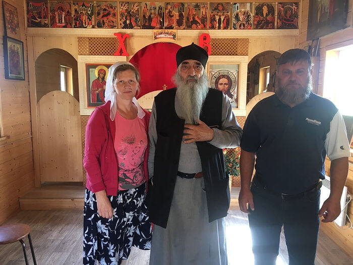 Dmitry and Natalia with Fr. Heliodor