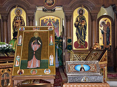 Fiftieth Anniversary of the Canonization of St. Herman of Alaska Gloriously Celebrated in the OCA's Moscow Representation Church